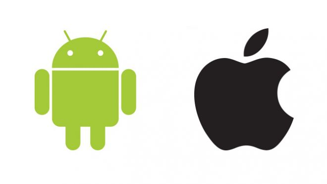 android-and-apple-logos