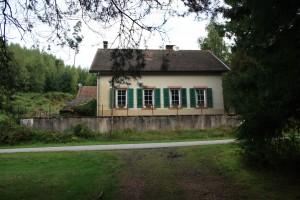 huis met groene luiken
