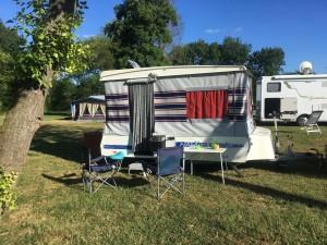Overnachtingsplek op de terugweg Paradiso caravan